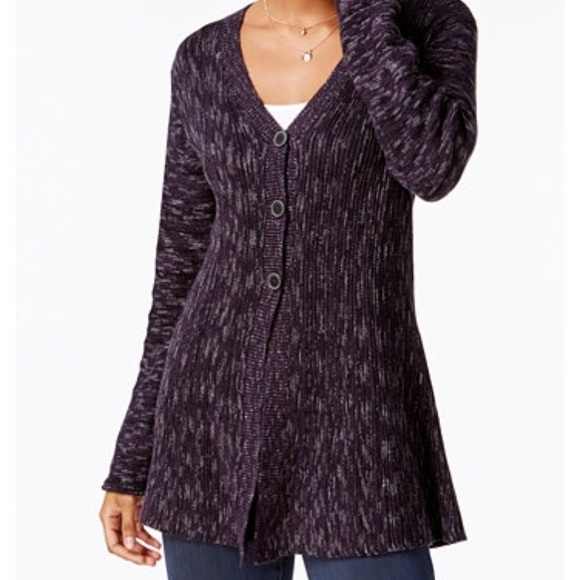 74 Off Style Co Sweaters Macys Style Co Purple Multi Cardigan